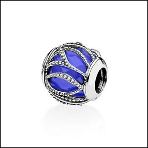 Charm Argent S925 perle bleu nuit Neuf