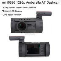 "Mini 0826 1.5"" LCD Ambarella A7 Super HD 1296P Car GPS Dash Camera DVR WDR LDWS"