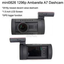 Mini 0826 Car Dash Crash Camera 1296p HD Video Recorder Vehicle DVR + CPL + GPS