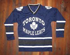 TORONTO MAPLE LEAFS Canada Blue NHL HOCKEY JERSEY Shirt Sz Kid YOUTH MEDIUM