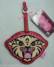 i Funky Tattoo Tiger FLUFF LUGGAGE TAG suitcase ID bag vegan leather tattoo nwt