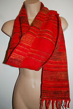 New Striped Hippy Acrylic Fleece Scarf - Fairly Traded India Ethnic Boho