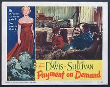 PAYMENT ON DEMAND BETTE DAVIS BARRY SULLIVAN LOBBY CARD 5