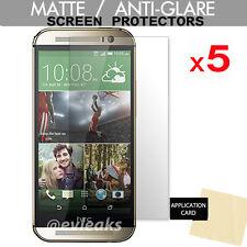 5 x HTC One M8 & One M8s ANTI-GLARE MATTE Screen Protector Cover Guard Shield