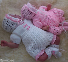 DK Baby Knitting PATTERN to KNIT Molly Girls Reborn Doll Romper Bonnet  Booties
