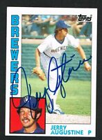 Jerry Augustine #658 signed autograph auto 1984 Topps Baseball Trading Card