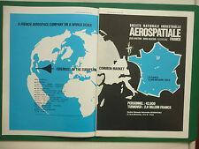 4/1970 PUB AEROSPATIALE CONCORDE AIRBUS A300B CORVETTE GAZELLE PUMA ORIGINAL AD