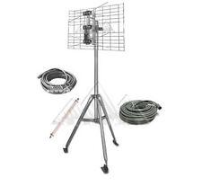 Pro Brand DTV2BUHF-KIT Antenna Tripod RV Camping Tailgating Kit with 2 Bay UHF