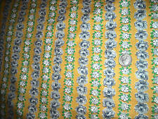 Vintage yardage quilt fabric 12 yds floral yellow flowers