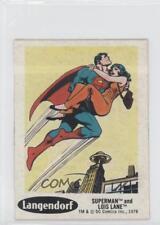 1978 Langendorf DC Super Hero Stickers Food Issue Base #9 Superman Lois Lane 0ad
