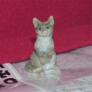 Pet Cat Grey Heidi Ott HOXZ564 GR Sitting on Haunches Dollhouse Miniature