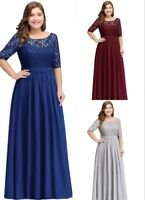Evening Prom Dresses Formal Party Ball Gown Bridesmaid Dress PLUS SIZE US STOCK
