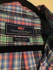 New ListingVineyard Vines Boy's Whale Button Down Long Sleeve Shirt Plaid Small 8/10 Euc
