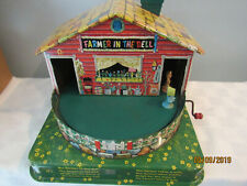 VINTAGE MATTEL FARMER IN THE DELL TIN TOY MUSICAL WIND UP CLEAN!