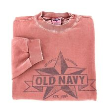 Vintage Old Navy Crewneck Sweatshirt Small Authentic Trademark Spellout Graphic