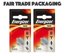 2 x Pack Energizer CR1632 3V Lithium Battery CR 1632 Long Life Coin Battery