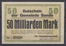 Sande - Gemeinde - 50 Milliarden Mark