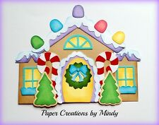 Craftecafe Mindy Gingerbread House premade paper piecing for scrapbook page
