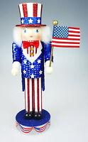 Patriotic Uncle Sam Nutcracker Village 10th Anniversary Collection Stars&Stripes