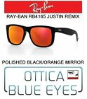 Occhiali da sole RAYBAN JUSTIN REMIX Ray Ban RB4165 sunglasses POLISHED BLACK 6Q