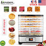 5-8 Tray Electric Food Dehydrator Machine Meat Jerky Fruit Dryer Herbs Preserver