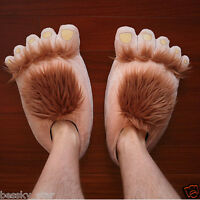Women Men Creative Funny Cute Plush Slipper Big Feet Slippers Winter House Shoes