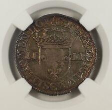 1605-C France 1/4 Ecu Silver Coin Henry IV NGC AU-58 AKR