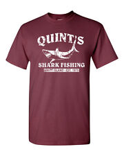 QUINT'S SHARK FISHING Jaws RETRO Amity SHARK Week Men's Tee Shirt 1206