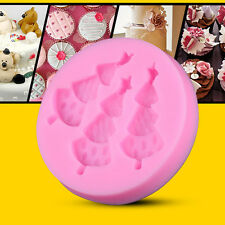 DIY Silicone Xmas Tree Cake Decorating Mold Sugarcraft Chocolate Fondant Mould