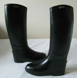 SHIRES RUBBER WATERPROOF HORSE RIDING BOOTS UK SIZE 1 EUR 33 CHILDS KIDS