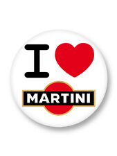 Magnet Aimant Frigo Ø38mm I love Heart Alcool Alcohol Martini Vermouth