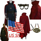 DR Strange Cosplay Costumes Doctor Strange Red Cloak Robe Necklace Ring Full Set