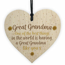 Great Grandma Gift Wooden Heart Granparent Birthday Gift For Her Gifts For Women