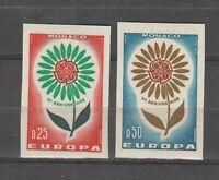 S36651 Monaco Europa Cept MNH 1964 2v Non Serrated Imperforated