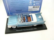 Plymouth Fury Convertible, metallic-türkis/weiss 1960 1/43 NEO RARE!