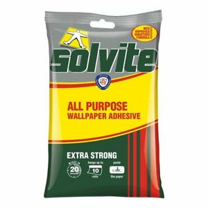 Solvite All Purpose Wallpaper Adhesive - Hangs up to 15 Rolls