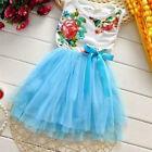 enfant fille tout-petit sans manche robe princesse noeud fleur tutu soirée miss
