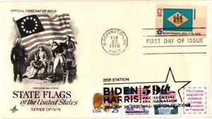 2021 Joe Biden Inauguration–Dual Cancel w Delaware State Flag-Artcraft Cachet