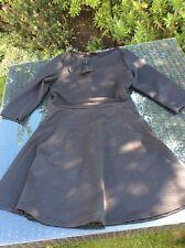 Black Zara Skater Dress Ribbed Large L 12 New BNWT
