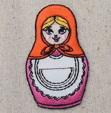 Iron On Embroidered Applique Patch - Russian Matryoshka Nesting Dolls 796393A