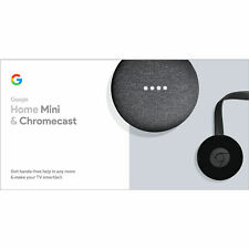 Brand New Factory Sealed Google Hd Chromecast And Google Home Mini Power Bundle