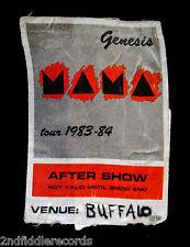 GENESIS-Rare Original 1983 MAMA Backstage Pass-Buffalo, NY-PHIL COLLINS-Prog