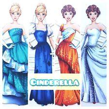 CINDERELLA-2 2 Paper dolls. Fairy Tale Fashion Fun Princess Princesses