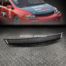 FOR 06-08 CIVIC 2DR FG BLACK ABS HONEYCOMB MESHED FRONT UPPER BUMPER GRILL GUARD