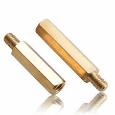 M4 Hexagonal Brass Copper Stand Off Screw Spacers Pillar M to F Threads TS
