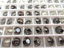 24 Black Patina Foiled Swarovski Crystal Chaton Stone 1088 29ss 6mm