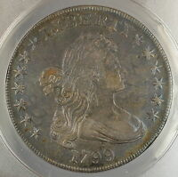 1799 Draped Bust Silver Dollar $1 Coin ANACS EF-40 PRX