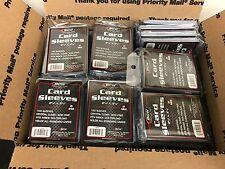 Lot of 75 ~ BCW 100-packs Plastic Sportscard Gaming Card Sleeves (7,500 sleeves)