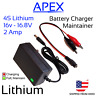 16v - 16.8v 30W 2A Lithium Battery Charger Maintainer Li-ion LiPo 4S