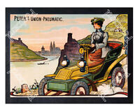 Historic Peter's Union Pneumatic Tyres 1905 Advertising Postcard 2
